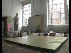 SABINE TRESS  paints in her studio