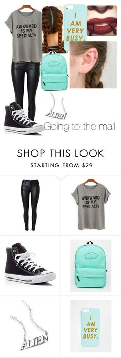 """"""""""" by oopsitshayley on Polyvore featuring Converse, Vans, Disturbia and ban.do"""