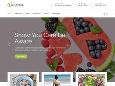Nutrella – Theme WordPress Free Wordpress Template, Wordpress Theme, Color Picker, You Lost Me, Diet And Nutrition, Sliders, Health, Easy, Blog