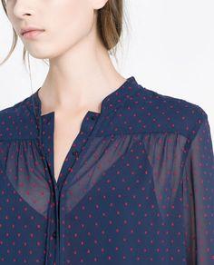#ZARA  long sleeve blouse, $59.90