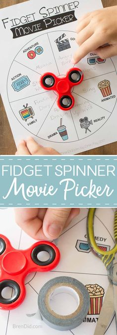 Family Movie Night Fidget Spinner Movie Picker - Fidget Spinner Movie Picker, Fidget Spinner Chore Chart, Fidget Spinner Education Uses, Fidget Spinner Games