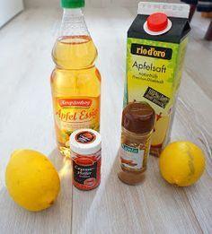 Apfelessig, Apfelsaft und Zitrone