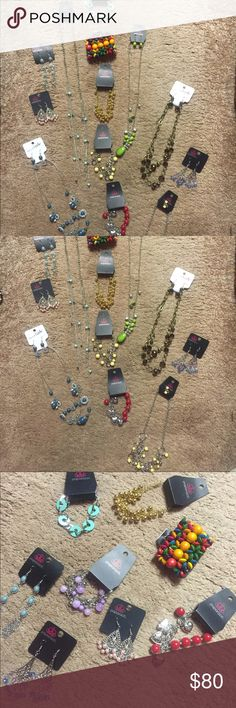 NWT Jewelry Lot, 19 pcs, beautiful and brand new!! ***Price Reduced***NWT Jewelry Lot, 19 pieces total.  Breakdown is below; 4 necklaces have matching earrings.  All are Paparazzi or Charming Charlie.  Retail on the Charming Charlie items is $51 alone.  All items are new and have tags attached.  Would be fun play jewelry for kids playing dress up, to give as gifts or to keep for yourself!! 6 bracelets 3 pairs of earrings 6 necklaces (4 are sets with matching earrings)  $38 for all; which is…