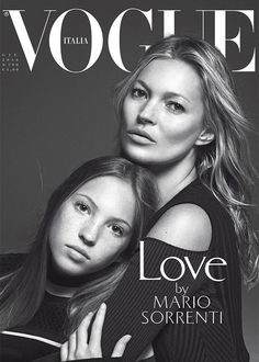 Kate Moss & daughter Lila Grace Moss Hack for Vogue Italia June 2016 Cover