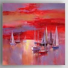 Oil Painting 'Contemporary Artwork Of Sailing Boats', 30 x 30 inch / 76 x 77 cm , on High Definition HD canvas prints is for Gifts And Garage, Laundry Room And Nursery Decoration, graphy ** Check out this great product. Abstract Landscape, Landscape Paintings, Abstract Art, Acrylic Paintings, Boat Drawing, Boat Art, Boat Painting, Contemporary Artwork, Online Painting