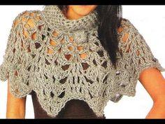 DIY CROCHET PELERINE CROCHE DE DEDO MUITO RÁPIDO E FÁCIL DE FAZER - YouTube Finger Crochet Poncho. So pretty.
