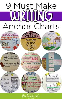 9 Must Make Anchor Charts for Writing &;s Class 9 Must Make Anchor Charts for Writing &;s Class MyDayinK dianaschuda Writing in K Make these anchor charts […] and first grade Grammar Anchor Charts, Anchor Charts First Grade, Kindergarten Anchor Charts, Writing Anchor Charts, Kindergarten Writing, Teaching Writing, Kindergarten Writers Workshop, Literacy, Fun Writing Activities