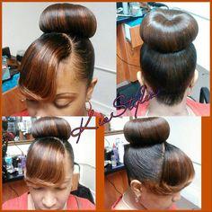 Black Hairstyles Buns With Bangsbun And Bangs Pinterest Cxmlxrez