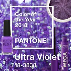 Pantone Colour of the Year 2018 Color Of The Year, Pantone Color, Ultra Violet, Colour, Inspiration, How To Make, Natural Skin Care, Organic Beauty, Eye Shadows