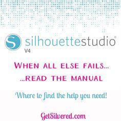 Help in Silhouette Studio 4 Software