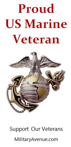 Proud US Marine Corps Veteran - created for http://facebook.com/MilitaryAvenue and yours to share