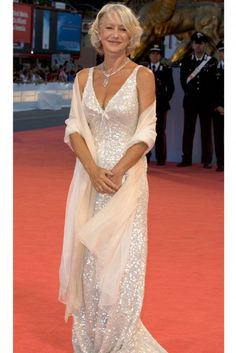Isnt this a great look for mother of bride. Helen Mirren is amazing. Have a look at this one Pauline love the sawl.