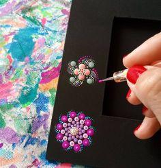 Little mandalas 💚 Mandala Art, Mandala Rocks, Mandala Painting, Mandala Design, Dot Art Painting, Pebble Painting, Pottery Painting, Pebble Art, Stone Painting