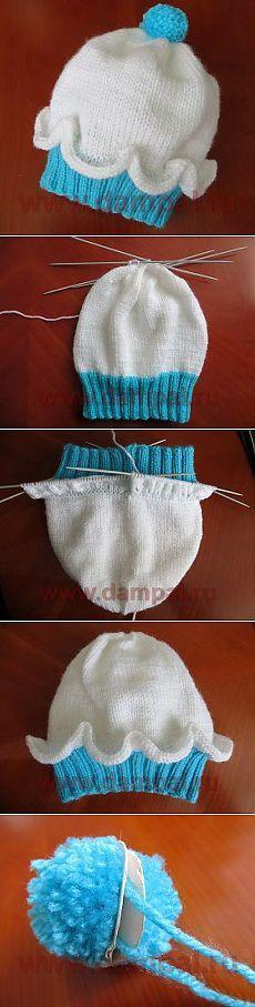 Вязаная шапочка для детей | DAMские PALьчики. ru