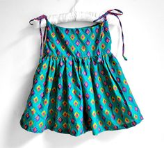 Baby Dress  Size 2T  Green dress with purple and by PaisleyMagic, $36.99