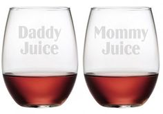 "Yes, even Daddy & Mommy need their ""juice"". Sure to bring a smile, these will make a great gift for any occasion."
