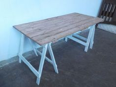 B3060 Vintage Rustic Industrial Trestle Table Dining Outdoors | Tables | Gumtree Australia Mount Barker Area - Mount Barker | 1068874760