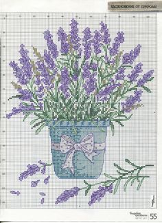 Lavender | Bathroom [Pattern / Chart] [Spring - Flowers - Cross Stitch]