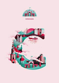 Wanderlust Alphabet: Creative Typography Illustrations by Jack Daly