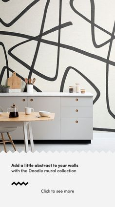 Create a dynamic feature wall that will add a unique aspect to your interior theme with the Black and Beige Wavy Line Abstract Wallpaper Mural. Wallpaper Doodle, Beige Wallpaper, How To Hang Wallpaper, Normal Wallpaper, Drawing Wallpaper, Modern Wallpaper, Cool Wallpaper, Paint Matching