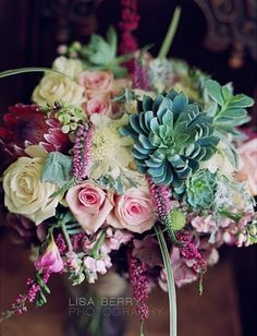 Succulent Wedding Boquet