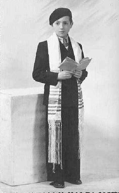A Belgian boy at his Bar Mitzvah in 1937, three years before the Nazi occupation of his country