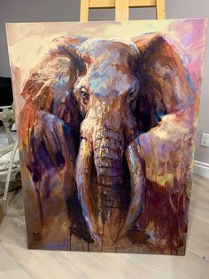 The Great Tusker Elephant Poster, Elephant Archival Print, Elephant Home Decor, Elephant Decoration, Elephant Wall Art Elephant Poster, Elephant Wall Art, Elephant Home Decor, Elephant Pictures, Big Canvas, Wildlife Art, Animal Paintings, Art Paintings, Art World