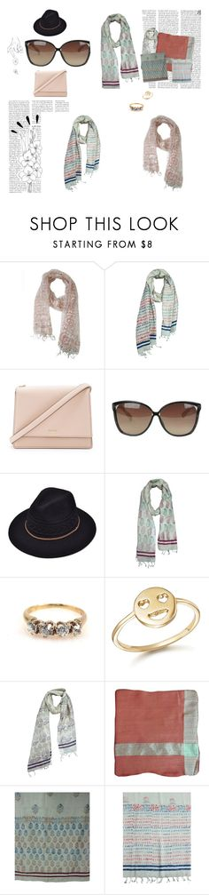"""""""Women's Ethnic Stole"""" by era-chandok ❤ liked on Polyvore featuring Kate Spade, Linda Farrow, Bing Bang and Old Navy"""
