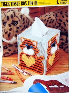 Tiger Tissue Box Cover By Sandra Miller Maxfield And