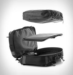 Slicks is a modular backpack that keeps you organized and ready for every travel scenario. The Slicks travel system can be tailored to whatever kind of trip you're taking, business, leisure or commute. The versatile bag can be worn as a backpac
