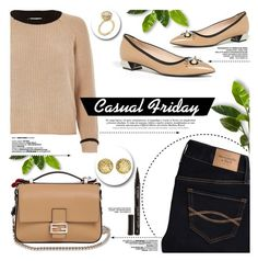 """Casual Friday"" by yurisnazalieth ❤ liked on Polyvore featuring Fendi, River Island, Abercrombie & Fitch and Smith & Cult"