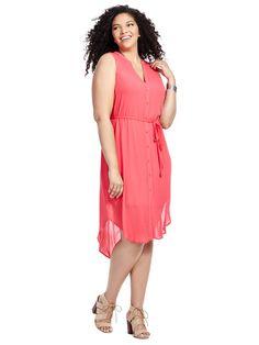 Viri Shirt Dress @bbdakota  Available in sizes 1X-3X
