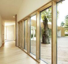Love passage ways with full height windows.