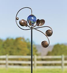 Bidirectional Celestial Wind Spinner With Glowing Glass Orb
