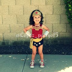 Toddler Wonder Woman-DIY costume for Comicon/ Halloween, I made for Zoey. I didn't use a pattern, just sorta winged it =)