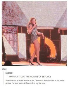 This is the only bad picture of Beyoncé to exist