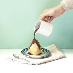 Poire et chocolat : Photo & stylisme culinaire par @lowa_leaf
