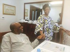 Eh, I go love oh! Rotimi Amaechi and his wife, Judith in new photos - http://www.thelivefeeds.com/eh-i-go-love-oh-rotimi-amaechi-and-his-wife-judith-in-new-photos/
