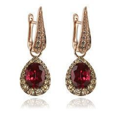Garnet Earring Drops ($3,620) ❤ liked on Polyvore featuring jewelry, earrings, earring jewelry, garnet jewelry, garnet jewellery and garnet earrings