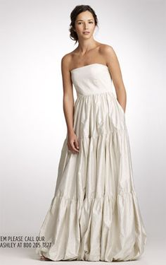 classy and comfortable  j crew spring 2010 wedding dress
