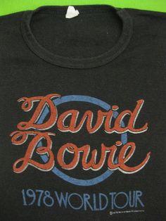 David Bowie world tour // shirt