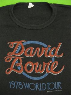 Vintage DAVID BOWIE 1978 tour SHIRT concert tee by rainbowgasoline, $200.00