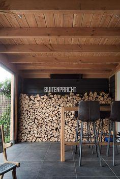 Patio Design, Garden Design, Firewood Storage, Wood Logs, Twiggy, Outdoor Gardens, Modern Farmhouse, Pergola, Home Decor