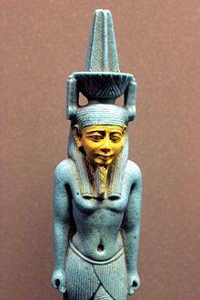"""""""Nefertem (/ˈnɛfərˌtɛm/; possibly """"beautiful one who closes"""" or """"one who does not close""""; also spelled Nefertum or Nefer-temu) was, in Egyptian mythology, originally a lotus flower at the creation of the world, who had arisen from the primal waters.[1] Nefertem represented both the first sunlight and the delightful smell of the Egyptian blue lotus flower, having arisen from the primal waters within an Egyptian blue water-lily""""  @Jess Liu zheng.wikipedia.org"""