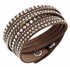 77cdf83c58a1f Swarovski Slake Brown Deluxe Bracelet - 5141349
