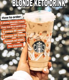 Keto Starbucks Drinks: 15 Low-Carb Orders - Green and Keto - Keto Starbucks Drinks: 15 Low-Carb Orders - Green and Keto Food! Keto Starbucks Drinks: 15 Low-Carb Orders - Green and Keto - Yummy Drinks, Healthy Drinks, Healthy Nutrition, Atkins, Starbucks Secret Menu Drinks, Starbucks Coffee, Sugar Free Starbucks Drinks, Starbucks Hacks, Iced Americano Starbucks