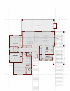 House in Mosfiloti. Best House Plans, Dream House Plans, Modern House Plans, Small House Plans, House Floor Plans, Modern Architecture House, Architecture Plan, Home Design Plans, Plan Design