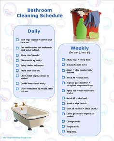 My Great Challenge: Cleaning Routine - free template
