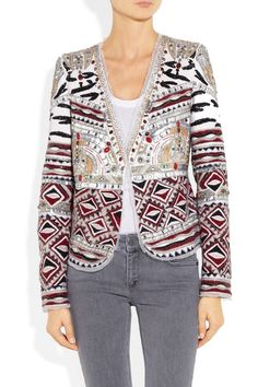 Emilio Pucci | Embellished wool, silk and cotton-blend jacket | NET-A-PORTER.COM