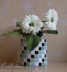 Mosaic Tin Can Flower Pot